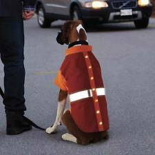 KONG LED Thermal Safety Dog Jacket Winter Fleece Lined Pet Coat Clothes Hunting