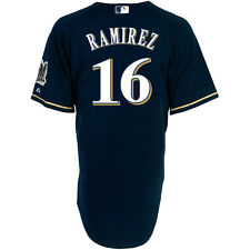 Majestic Athl Milwauk Brewers Aramis Ramirez Auth Alt Road Cool Base Navy Jersey