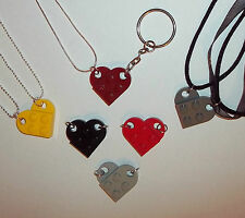 Quirky Lego Heart Necklace❤Keyring❤Daughter Best Friend❤Unique Handmade Gift