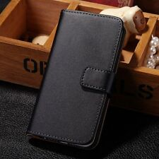 Genuine Luxury Real Leather Flip Wallet Case Cover Pouch For Apple iPhone 5 5S