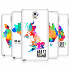 HEAD CASE COLOURED MAPS BATTERY REAR COVER FOR SAMSUNG GALAXY NOTE 3 N9005
