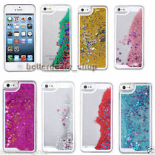 Glitter Stars Bling Liquid Quicksand Hard Back Clear Case Cover for iPhone 5 5S