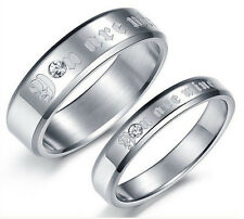 Fashion Couple Rings Stainless steel YOU ARE MINE Wedding Bands Top Gifts GJ365
