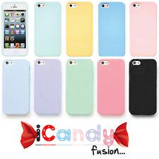 Genuine iCandy Gel Soft Pastel Colours Slim Case Cover for iPhone 6 5 5S 5C 4 4S