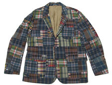 Polo Ralph Lauren Mens Custom Fit Patchwork India Madras Sportcoat Blazer Jacket