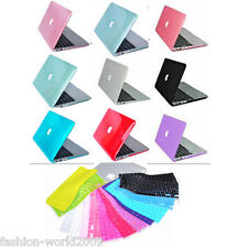 Crystal Hard Rubberized Case Keyboard Cover For MacBook Air 11 13 15 Retina Pro