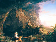 Christian Fine Art Print The Voyage of Life Childhood Thomas Cole Painting Repro