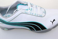 Puma Sunny 2 Dimple/Soft Stud Golf/Sport Shoes White / Turquoise 4-8 incl 1/2's