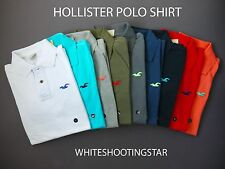 "NWT HOLLISTER HCO MENS ""Pearl Street"" Seagull Muscle Fit Pique Polo Shirt"