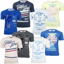 Mens Smith & Jones 2 Pack T-Shirts Short Sleeved D1 Graphic Print Jersey