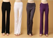 Yoga Womens modal Athletic Foldover Stretch Gym Casual Comfy Soft Lounge Pants