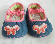 blue jean red butterfly mary jane shoes toddler baby girl shoes UK size3,4