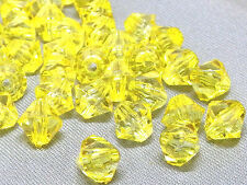6mm 200/400/600/800/1000pcs YELLOW FACETED ACRYLIC LUCITE BICONE BEADS TY2984
