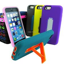 """For iPhone 6 4.7"""" Plus 5.5 Tough Rugged Impact Hybrid Slim Hard Case Cover Stand"""