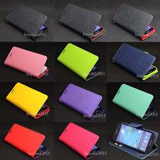 Deluxe PU Leather Flip Wallet Stand TPU Case Cover For Sony Xperia ZR M36H C5502