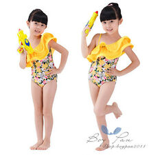 Popular Kids Toddler Clothes Girls Floral Swimming Costume Cap Swimsuit Sz3-8Y