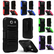 For Samsung Galaxy Ace STYLE S765C Cell Phone Case Hybrid Hard Cover + Holster