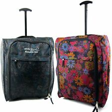 Patterned Ryanair Hand Luggage Travel Holdall Bag Wheeled Suitcase Weekend Cabin