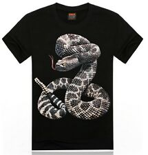 Twisted Snake boa Men's Junior's 3D print Casual Plus Size hot sell Tee T-Shirt