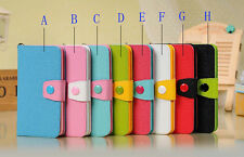 Simple Button Leather Wallet Stand Case Cover For Samsung NOTE 3 N9000