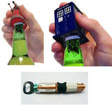 Dr Who: Bottle Opener With Sound Effects - New & Official Tardis / Dalek / Sonic
