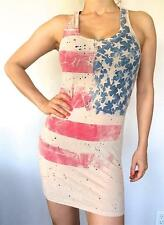 ROCKSTAR AMERICAN FLAG star spangled banner womens sexy tank top tunic dress