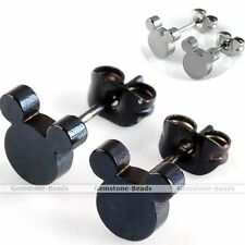 Pair Cool Cute Mickey Mouse Stainless Steel Ear Stud Men Women Earring Punk Gift