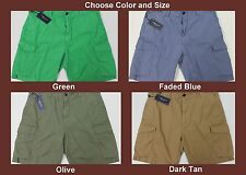 NWT $75 Polo Ralph Lauren Drill Khaki CARGO Shorts Relaxed Fit Men FREE SHIP NEW