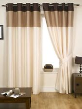 Harmony Ready Made Fully Lined Eyelet Curtains Natural