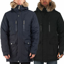 Mens Parka Hoodie Jacket Bench 'Nomen' Coat Water Repellant Finish