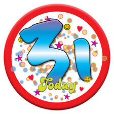 NEW Printed T-SHIRT Happy Birthday 31st BIRTHDAY Today, All Sizes, All Colours