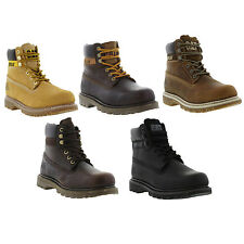 Caterpillar COLORADO Mens Leather Lace Up Casual Work Boots Sizes UK 7 - 12