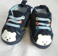 Dark blue bear boy shoes toddler shoes baby boy shoes UK size2,3,4