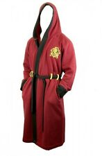 Harry Potter GRYFFINDOR Maroon Fleece BATHROBE With HOOD