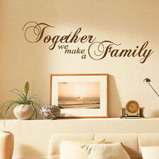 Wandbild Sticker - Englisch Text - Together We Make a Family - Zitat