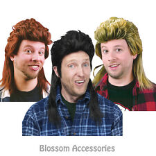 W226 Mullet 80s Rock Redneck Long Bogan Men Costume Wig