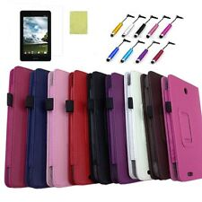 """7"""" Flip PU Leather Stand Case Cover For ASUS FonePad ME371mg ME371 W/Film Stylus"""