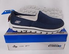 New Skechers 53590 Mens GoWalk 2 Slip On Shoes - Navy/Gray (NVGY)