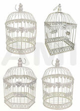 ROUND, HEXAGON OR SQUARE DECORATIVE IVORY WEDDING BIRDCAGE TABLE CENTRE PIECE