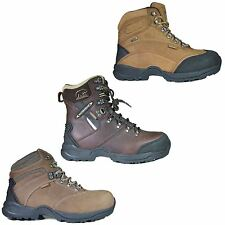 Mens Safety Work Hiker Boots Brown Leather Ankle Shoes Steel Toe Cap Size 6-12