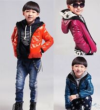 Hot New Kids Toddler Clothes Boys Winter Hooded Coats Jackets Snowsuit Sz3-10Y