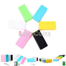 LED USB Mobile Power Bank Rechargeable Battery Charger 18650 Box Case