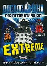 Doctor Who Monster Invasion Extreme SUPER RARE *CHOOSE YOUR CARD* FREE UK P&P*