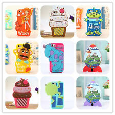 For Apple iphone 5 5s silicone phone cover case 3D cute Animal,cherry ice cream