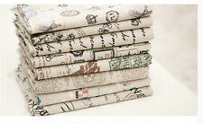 Cotton Linen Pattern fabric DIY doll Materials craft Patchwork cloth L1734-L1739