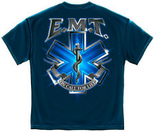 Navy Blue EMT On Call for Life Star of Life T-Shirt