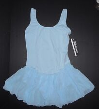 NWT Body Wrappers Ballet Dress Skirted Tank Leotard Lt Blue or White Ladies Szs
