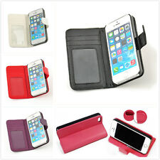 Luxury Leather Card Holder Flip Case Wallet Cover For Apple iPhone5,5S,6,6 plus