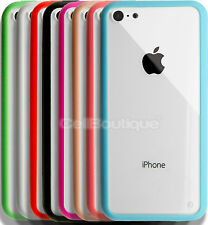 BUMPER CLEAR HARD BACK CASE COVER FOR APPLE iPHONE 4 5 & 5C