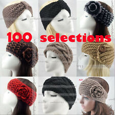 NEW FASHION Winter Flower Knit Headwrap handmade Headband Ear Warmer